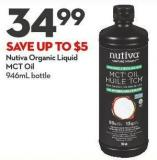 Nutiva Organic Liquid  Mct Oil 946ml Bottle
