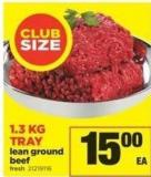 Lean Ground Beef - 1.3 Kg Tray