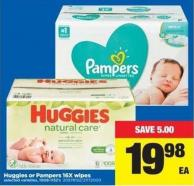 Huggies Or Pampers 16x Wipes - 1008-1152's
