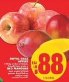 Royal Gala Apples or Red Mangoes - Each