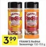 Frank's Redhot Seasonings