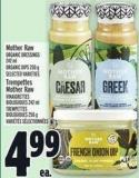 Mother Raw Organic Dressings 242 ml Organic Dips 250 g