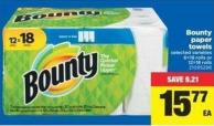 Bounty Paper Towels - 6=18 Rolls or 12=18 Rolls