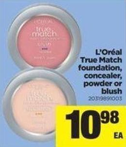 L'oréal True Match Foundation - Concealer - Powder Or Blush