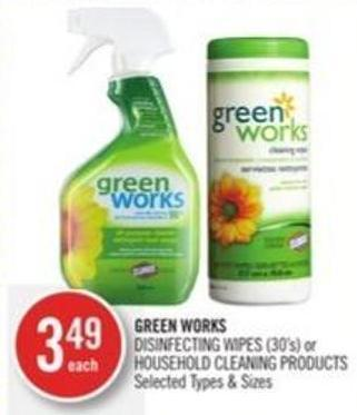 Green Works Disinfecting Wipes (30's) or Household Cleaning Products