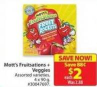 Mott's Fruitsations+ Veggies