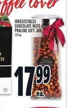 Irresistibles Chocolate Nuts & Praline Gift Jar