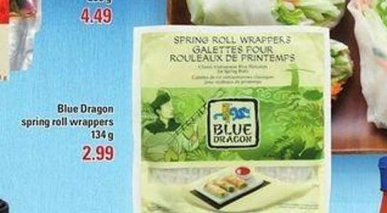 Blue Dragon Spring Roll Wrappers - 134 g