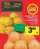Citrus Days Farmer's Market Lemons - 2 Lb Bag Or Red Grapefruit - 3 Lb Bag