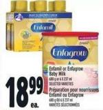 Enfamil Or Enfagrow Baby Milk 680 g or 6 X 237 ml