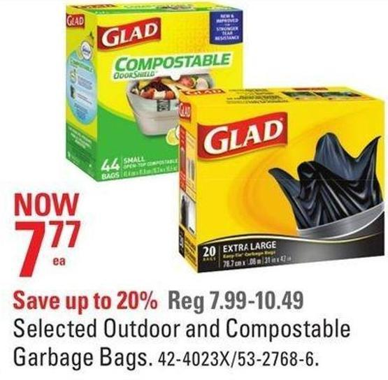 Selected Outdoor and Compostable Garbage Bags