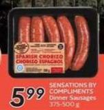 Sensations By Compliments Dinner Sausages