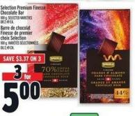 Selection Premium Finesse Chocolate Bar 100 G