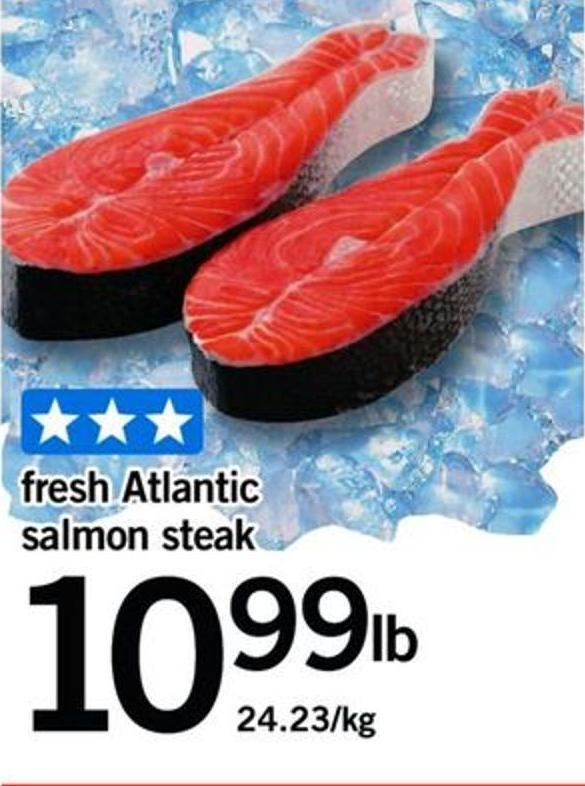 Fresh Atlantic Salmon Steak