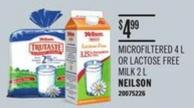 Microfiltered 4 L Or Lactose Free Milk 2 L Neilson