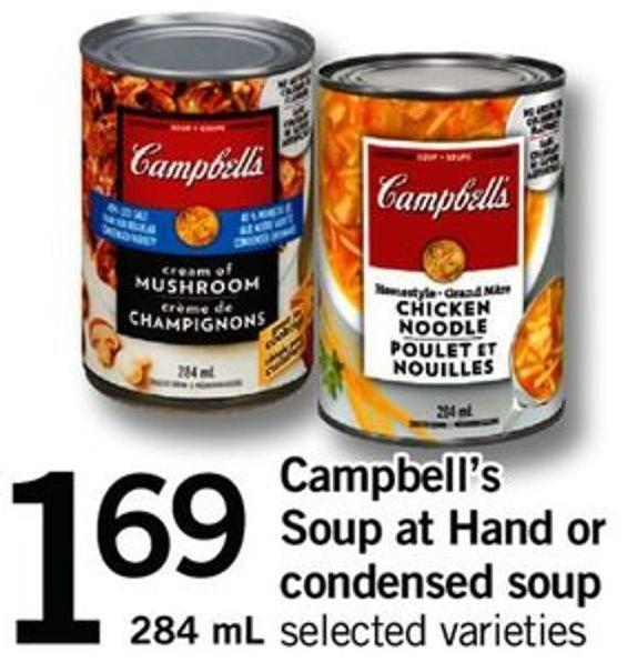 Campbell's Soup At Hand Or Condensed Soup - 284 Ml