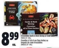 Irresistibles Garlic & Herb Shrimp Or Crab Cakes