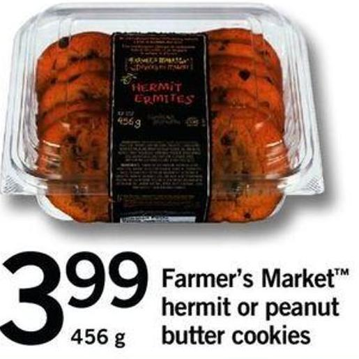 Farmer's Market Hermit Or Peanut Butter Cookies - 456 G