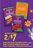 Annie's Fruit Snack Annie's - 115g Or Annie's Cracker - 213g