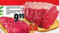Red Grill Boneless Top Sirloin Roast Or Value Pack Steak