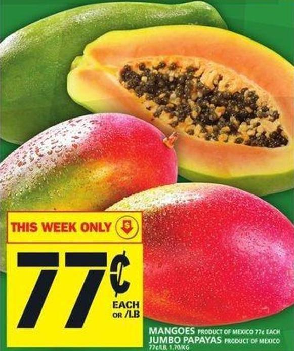 Mangoes Or Jumbo Papayas