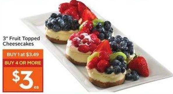 3in Fruit Topped Cheesecakes
