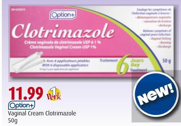 Option+  Vaginal Cream Clotrimazole  50g