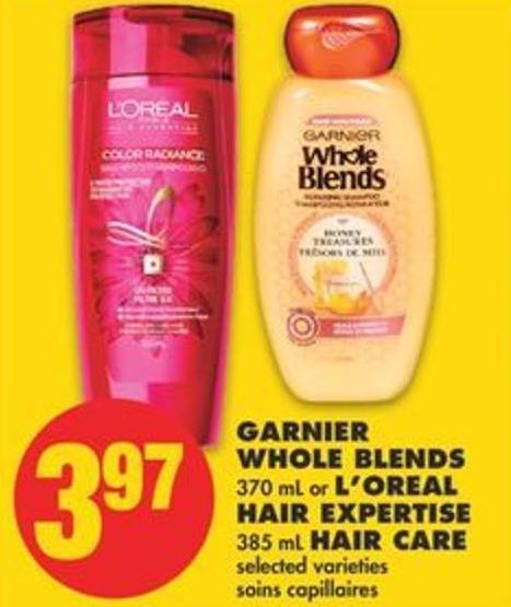 Garnier Whole Blends - 370 mL or L'oreal Hair Expertise - 385 mL Hair Care
