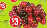 Cherries Product of Chile or Argentina No. 1 Grade