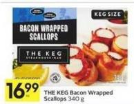 The Keg Bacon Wrapped Scallops 340 g