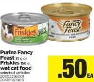 Purina Fancy Feast 85 G Or Friskies 156 G Wet Cat Food