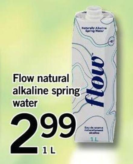 Flow Natural Alkaline Spring Water - 1 L