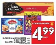 Black Diamond Cheese 400 G Or Cheestrings 336 G Or Galbani Mozzarella 500 G