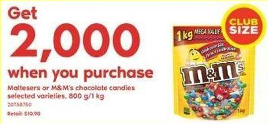 Maltesers Or M&m's Chocolate Candies - 800 G/1 Kg