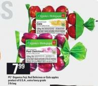 PC Organics Fuji - Red Delicious Or Gala Apples - 3 Lb Bag