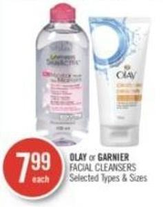 Olay or Garnier Facial Cleansers