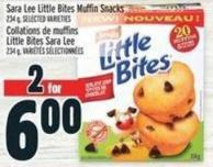 Sara Lee Little Bites Muffin Snacks 234 g