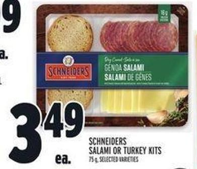 Schneiders Salami or Turkey Kits
