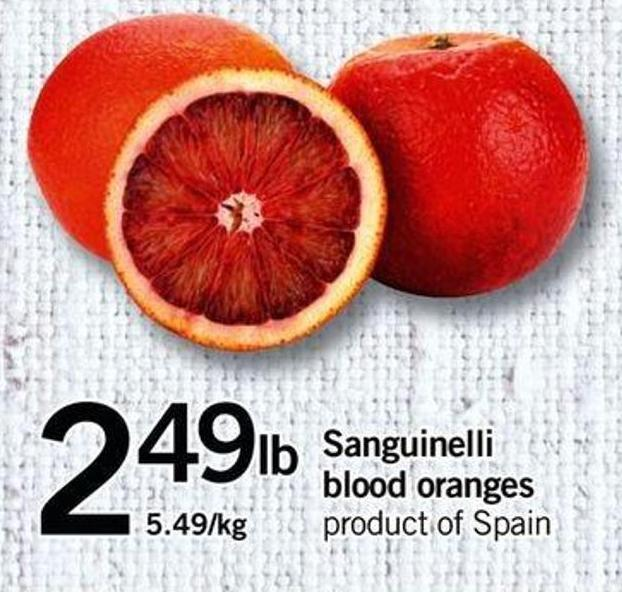 Sanguinelli Blood Oranges