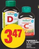 Jamieson C or D Vitamins - 120-240's