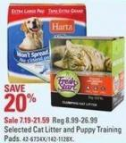 Selected Cat Litter and Puppy Training Pads