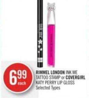 Rimmel London Ink Me Tattoo Stamp or Covergirl Katy Perry Lip Gloss
