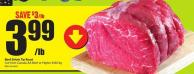 Beef Sirloin Tip Roast Cut From Canada Aa Beef or Higher