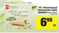 PC Plant-based Cheesecake-style Dessert - 540 g