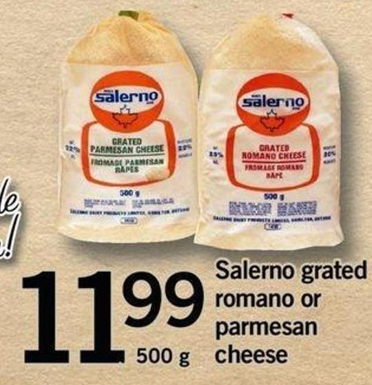 Salerno Grated Romano Or Parmesan Cheese - 500 G
