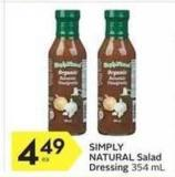 Simply Natural Salad Dressing