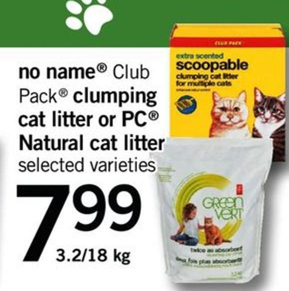 No Name Club Pack Clumping Cat Litter Or PC Natural Cat Litter - 3.2/18 Kg