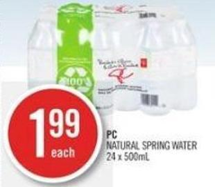 PC Natural Spring Water 24 X 500ml