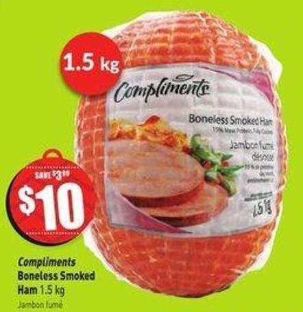 Compliments Boneless Smoked Ham 1.5 Kg