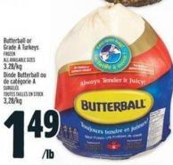 Butterball Or Grade A Turkeys
